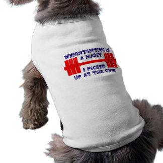 Hábito americano del levantamiento de pesas camisa de perrito