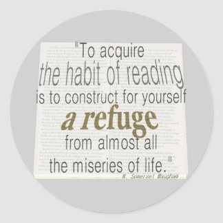 Hábito de la lectura etiqueta redonda