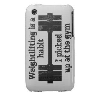 Hábito del levantamiento de pesas funda para iPhone 3 de Case-Mate