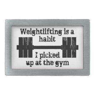 Hábito del levantamiento de pesas hebillas de cinturón rectangulares
