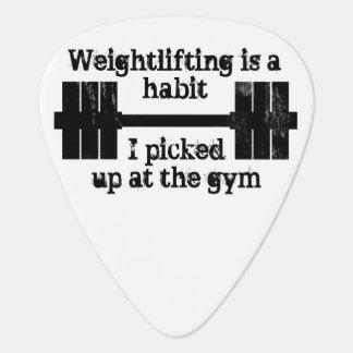 Hábito del levantamiento de pesas púa de guitarra