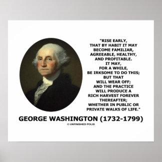 Hábito temprano de la subida de George Washington  Poster