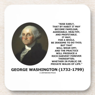 Hábito temprano de la subida de George Washington  Posavasos De Bebidas