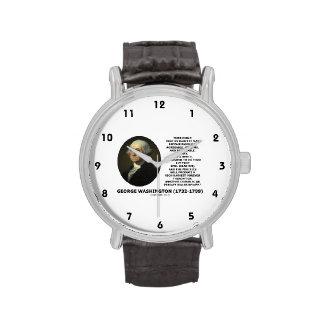 Hábito temprano de la subida de George Washington Relojes De Pulsera