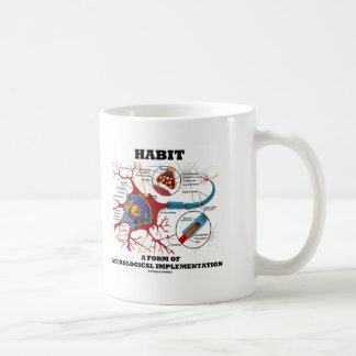 Hábito una forma de neurona neurológica de la taza de café