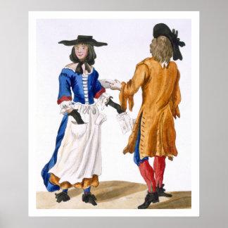 Hábitos de los cantantes de la balada, c.1675 (eng póster