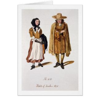 Hábitos de los Quakers, 1675 (grabado coloreado) Tarjeta De Felicitación