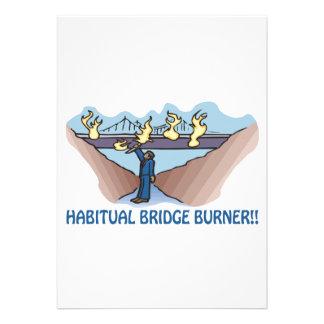 Habitual Bridge Burner Invitations