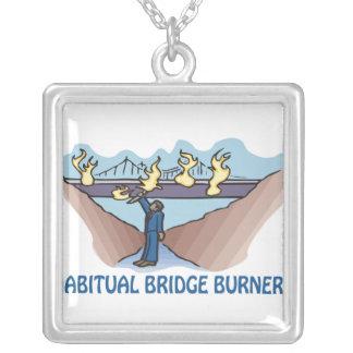 Habitual Bridge Burner Square Pendant Necklace
