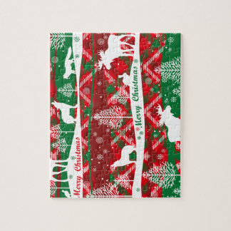 Habla and green Christmas puzzle