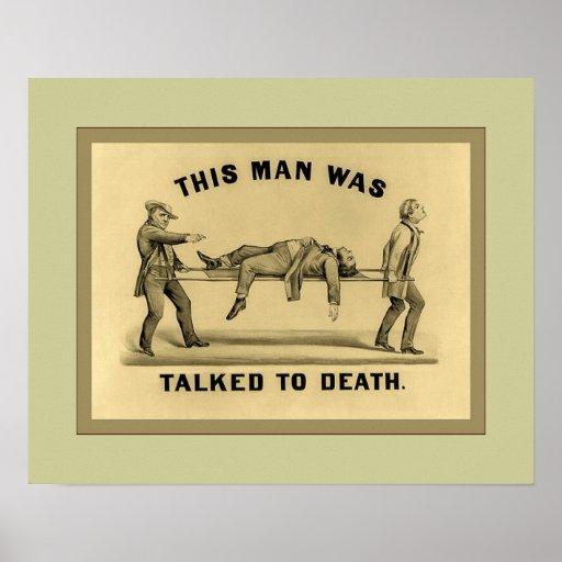 Hablado con la muerte poster