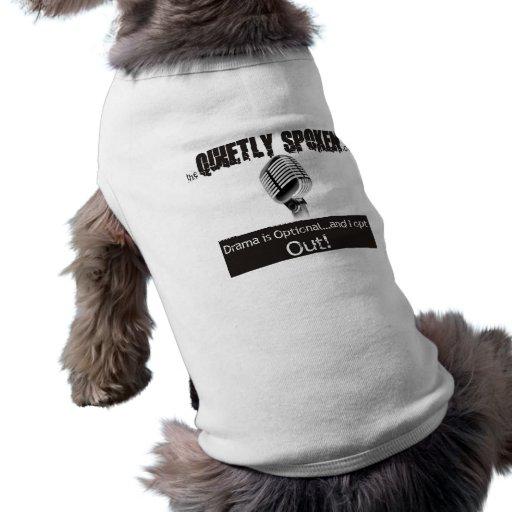 hablado reservado camisas de mascota