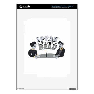 Hable a los muertos iPad 3 pegatinas skins