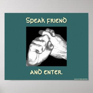 Hable al amigo y entre en muestra posters