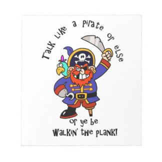 Hable al pirata o camine el tablón - es día del pi blocs
