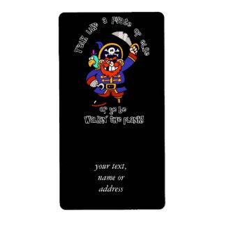 Hable al pirata o camine el tablón - es día del pi etiqueta de envío