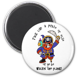 Hable al pirata o camine el tablón - es día del pi iman de nevera