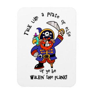 Hable al pirata o camine el tablón - es día del pi imanes