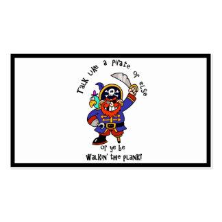 Hable al pirata o camine el tablón - es día del tarjetas de visita