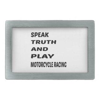 Hable competir con de la motocicleta de la verdad hebillas de cinturón rectangulares
