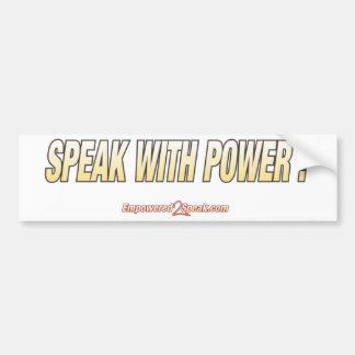 Hable con poder pegatina para auto