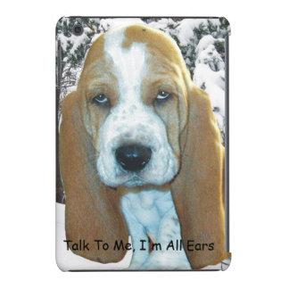 Hable conmigo, yo son todo el perrito de Basset Fundas De iPad Mini Retina