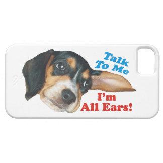 Hable conmigo, yo son todo el perrito del beagle iPhone 5 carcasas