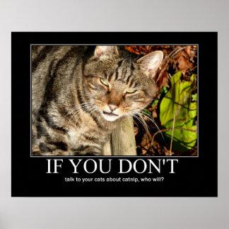 Hable de las ilustraciones del Catnip Poster