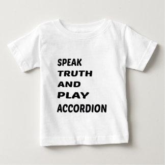 Hable el acordeón de la verdad y del juego camisas