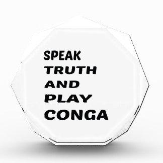Hable el conga. de la verdad y del juego