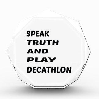 Hable el Decathlon. de la verdad y del juego