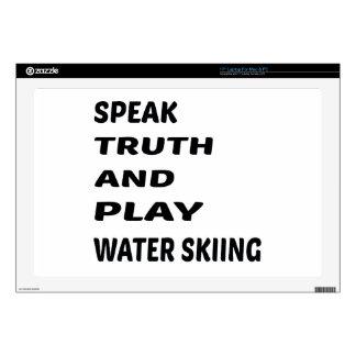 Hable el esquí acuático de la verdad y del juego calcomanías para portátiles