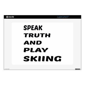 Hable el esquí de la verdad y del juego calcomanía para 38,1cm portátil