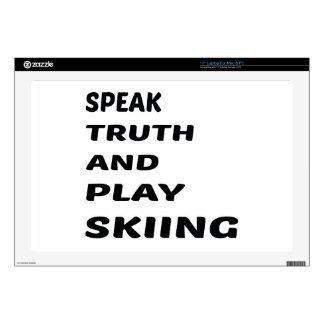 Hable el esquí de la verdad y del juego portátil calcomanías