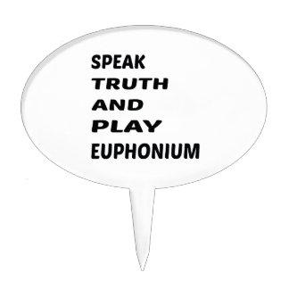 Hable el Euphonium de la verdad y del juego Decoraciones Para Tartas