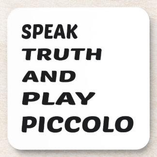 Hable el flautín de la verdad y del juego posavasos de bebida