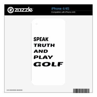 Hable el golf de la verdad y del juego skins para iPhone 4S