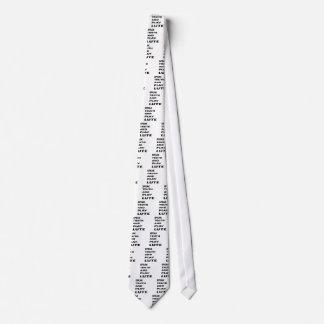 Hable el laúd de la verdad y del juego corbata personalizada