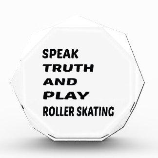 Hable el patinaje de rodillo de la verdad y del