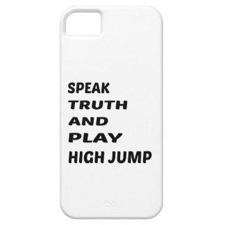 Hable el salto de altura de la verdad y del juego iPhone 5 funda