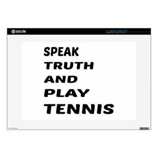 Hable el tenis de la verdad y del juego portátil 38,1cm skin