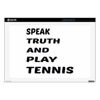 Hable el tenis de la verdad y del juego portátil calcomanías
