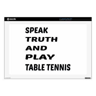 Hable el tenis de tabla de la verdad y del juego 43,2cm portátil calcomanía
