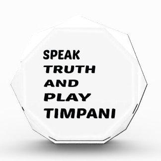 Hable el Timpani de la verdad y del juego