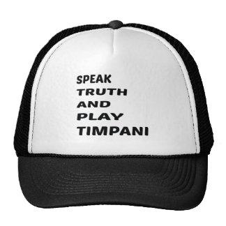 Hable el Timpani de la verdad y del juego Gorros