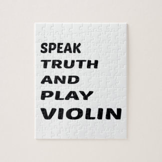 Hable el violín de la verdad y del juego rompecabeza