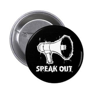 Hable hacia fuera el botón pin redondo de 2 pulgadas