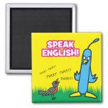 Hable inglés imanes de nevera