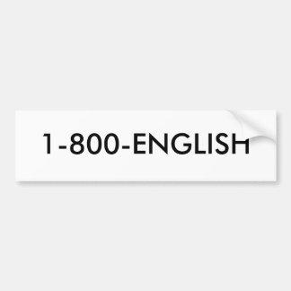 Hable inglés pegatina para auto
