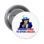 Hable inglés pin